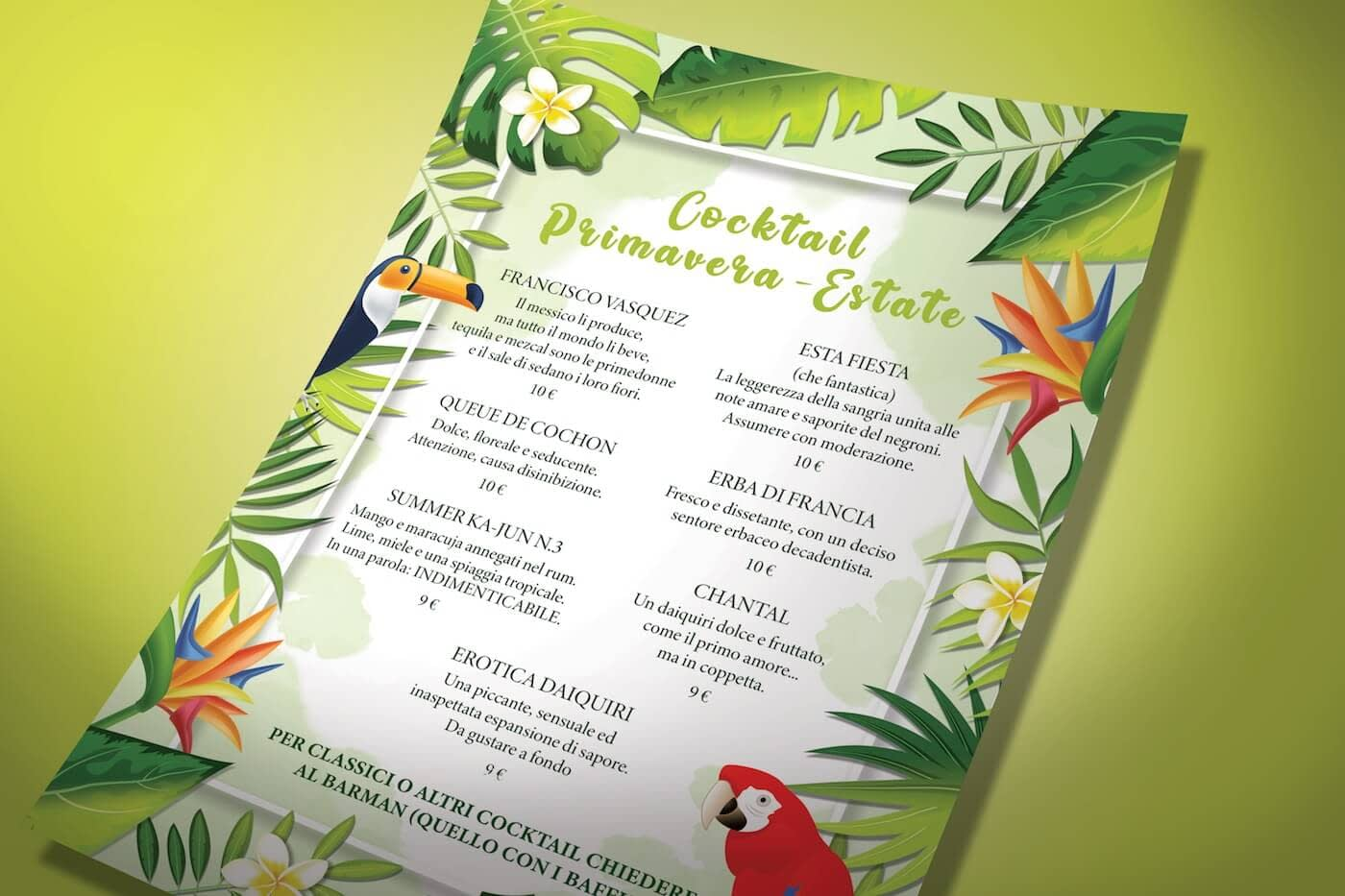 menu atlas estate