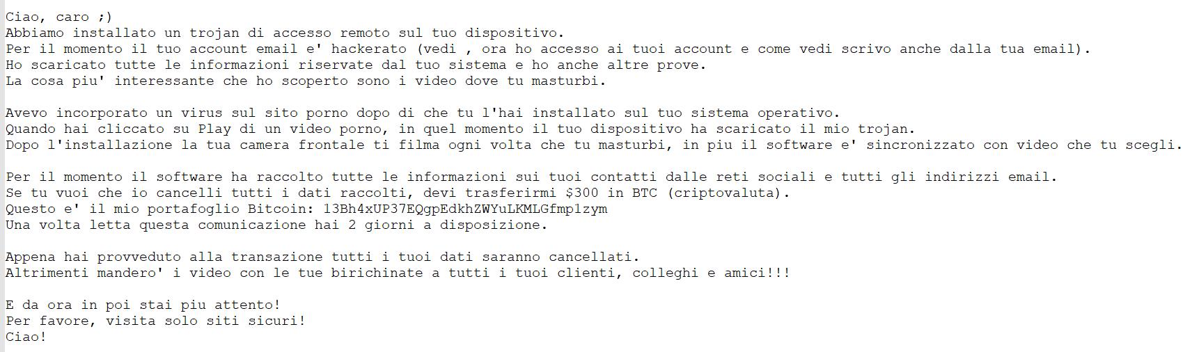 Mail spam hacker