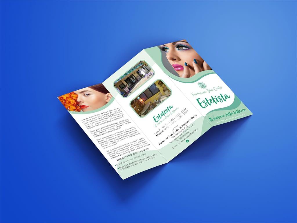 Free 3 Fold Tri Fold Brochure Mockup PSD Set 1